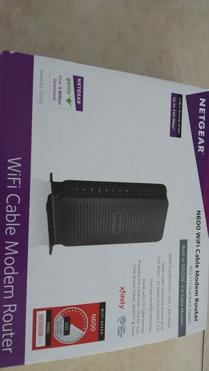 Netgear N 600 wifi cable modem router for Sale in New Port Richey, FL