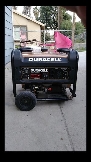 Duracell 4000 watt generator for Sale in Lake Elsinore, CA
