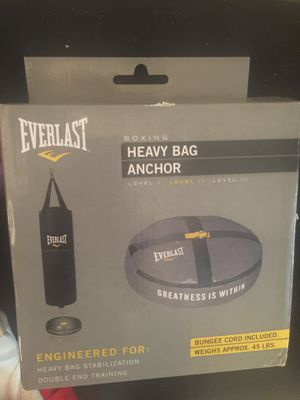 $20 New Heavy bag Anchor and 2 pairs of used boxing gloves( gloves have been washed and sanitized.) for Sale in Clearwater, FL