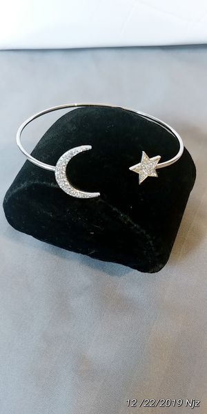 Silver moon and star bracelet for Sale in Spanaway, WA