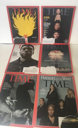 Lot 6 TIME Issues 2018 Magazines Jan-March Dec 17 AS IS FREE US SHIPPING! for Sale in San Diego,  CA