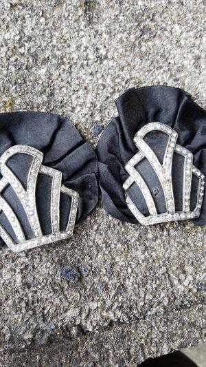 Vintage rhinestone shoe clips for Sale in Washington, PA
