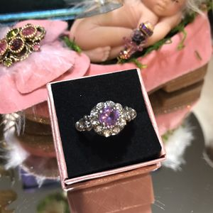 Beautiful !!! Silver Amethyst Stone Ring for Sale in Gainesville, VA