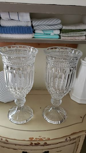 2 crystal vases for Sale in Tacoma, WA