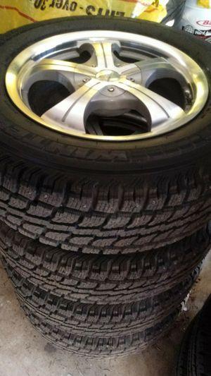 215/70R16 wheels/snow tires almost new 5holes universal 5x114 minivan, CRV, element, rav4 for Sale in Vancouver, WA