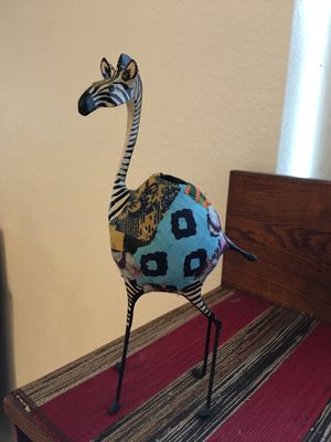 handcrafted zebra and giraffe candle holder from Uganda 6 available for Sale in Lake Placid, FL