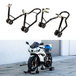New in box black or red color front and spool lift rear motorcycle sports bike repair maintenance jack stand rack for Sale in Pico Rivera, CA