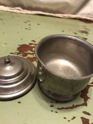 Pewter Mini Bowl With Lid Williamsburg Pewter for Sale in Jacksonville, FL