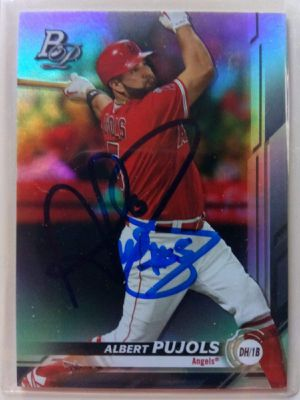 ALBERT PUJOLS Autograph 2019 TOPPS DH/1B Mint condition. for Sale in Alhambra, CA
