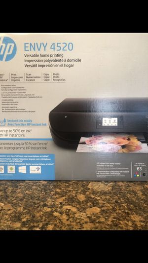 BRAND NEW SEALED HP ENVY 4520 WIRELESS ALL-IN-ONE INSTANT INK READY TOUCH SCREEN -PRINTER WITH SCANNER AND COPIER & MORE -BLACK FIRM $70 EACH for Sale in Riverside, CA