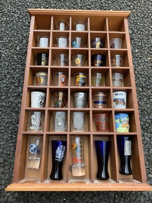 Shot Glass Collection Plus Display Rack for Sale in Washougal, WA