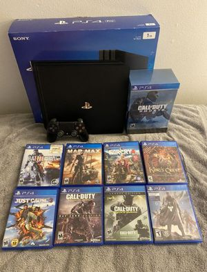 PS 4 pro 1TB 8 game's for Sale in Los Angeles, CA