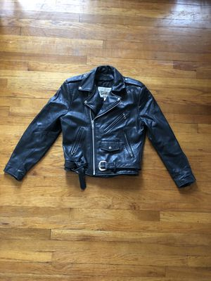 Wilson's Black Leather Motorcycle Jacket for Sale in Des Plaines, IL