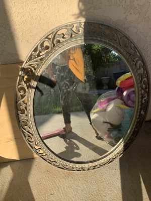 Oval Silver Mirror for Sale in La Habra Heights, CA