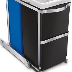Dual Compartment Under Counter Kitchen Cabinet Pull-Out Recycling Bin and Trash Can for Sale in Seattle, WA