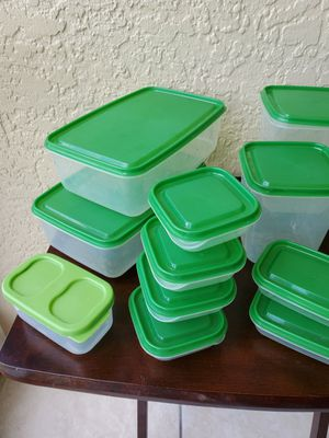 Plastic food storage containers for Sale in Sarasota, FL