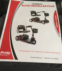 Pride Elite Traveller Plus 4 Wheel Scooter for Sale in Crescent Township,  PA