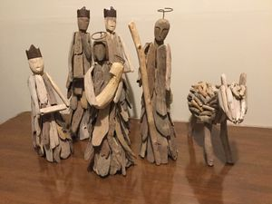 Reclaimed Wood / Driftwood 6 Piece Nativity Set for Sale in Springfield, VA