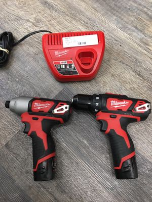 """condition: excellent more ads by this user Milwaukee M12 12V Hex impact driver 2462-20 1/4"""" 2407-20 3/8"""" Drill Driver Kit for Sale in Lynn, MA"""