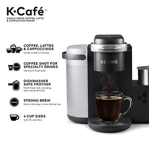 Keurig K-Cafe Single-Serve K-Cup Coffee Maker, Latte Maker and Cappuccino Maker, Comes with Dishwasher Safe Milk Frother, Coffee Shot Capability, Com for Sale in OH, US