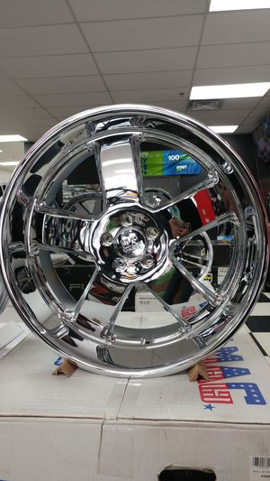 "22"" Inch U.S. Mag U116 Hustler Chrome Rims 5x115 CHARGER CHALLENGER CHRYSLER 300 for Sale in Tacoma, WA"