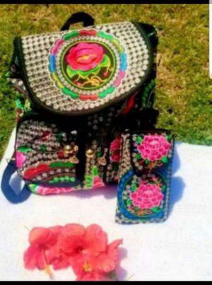 Embroidered backpack and wallet for Sale in Glendale, AZ