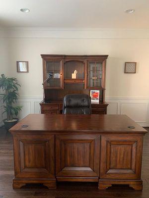 Hard wood desk complete set for Sale in Ashburn, VA