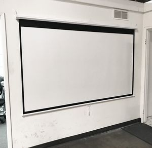 """Brand New $45 Manual 100"""" 16:9 Projector Screen Manual Pull Down Matte White Viewing Area: 87""""x49"""" for Sale in Downey, CA"""