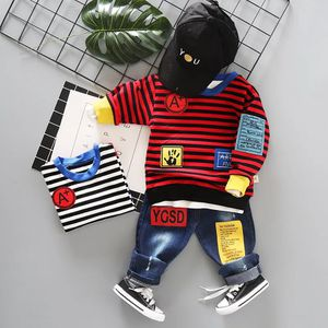 Summer Children Baby Boys Girls Clothes Striped Sweatshirt Jeans 2pcs/Sets Child Toddler Fashion Cotton Clothing Kids Tracksuits for Sale in Orlando, FL