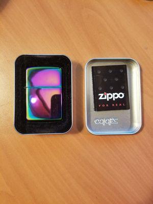 Zippo High Polish Indigo Metallic Purple/Blue Genuine Windproof Lighter #29899 for Sale in Westport, MA