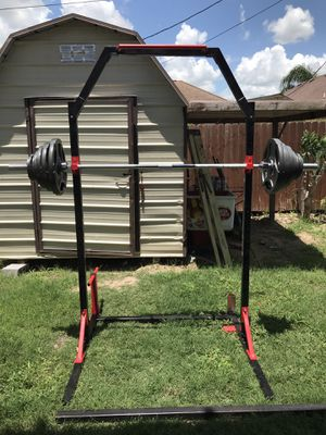 Squat/power rack (weights not included) for Sale in San Juan, TX