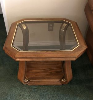 Two end tables with glass top for Sale in Alhambra, CA