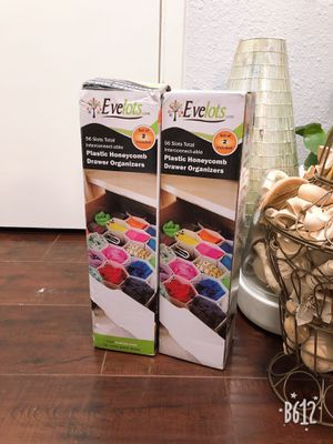 Evelots Plastic Honeycomb Drawer Organizers for Sale in Sunnyvale, CA