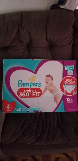 Pampers cruisers size 4 140 daipers $38 each box firm price for Sale in Los Angeles, CA