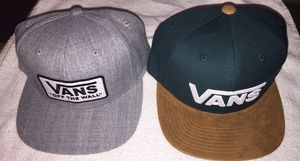 Vans off the Wall Gray and Green Adjustable Snapback Cap Hat New for Sale in Joint Base Pearl Harbor-Hickam, HI