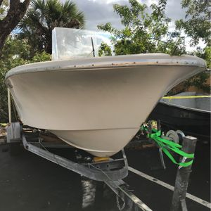 "21'Center Console & Trailer ""Test Boat"" $1000 for Sale in Fort Lauderdale, FL"