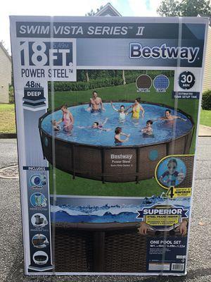 NEW Bestway swimming pool 18ft BUNDLE POWER STEEL!! for Sale in Norcross, GA