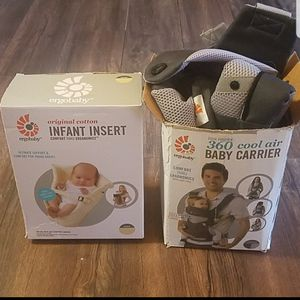 Ergobaby carrier and infant insert for Sale in Florence, MS