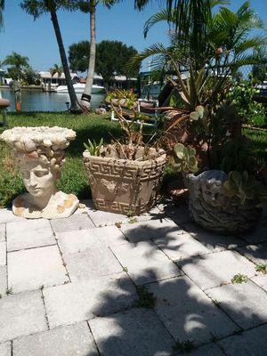 Group of flower pots for Sale in Saint Pete Beach, FL