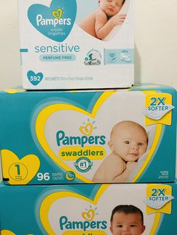 Pampers Diapers & Baby Wipes for Sale in Long Beach,  CA