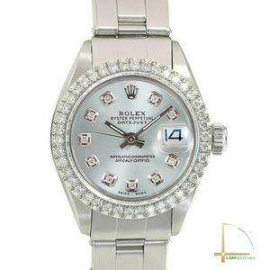 Rolex Datejust Steel 26mm Ladies Silver Diamond Dial & Diamond Bezel Watch for Sale in Anaheim, CA