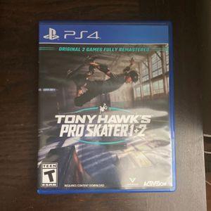 Tony Hawks Pro Skater 1+2 PS4 for Sale in Laurel, MD