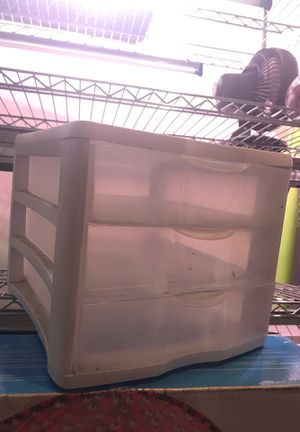 Stacking Plastic Shelf Three Drawer for Sale in Miami, FL