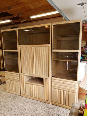Multimedia Cabinet Set, 3 pc. for Sale in Allyn, WA