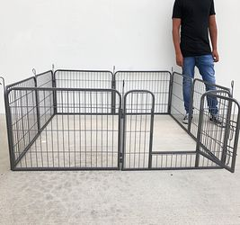 """$70 New in box 8-panel pet playpen, each panel (24"""" tall x 32"""" wide) heavy duty dog exercise fence gate crate kennel for Sale in Whittier,  CA"""