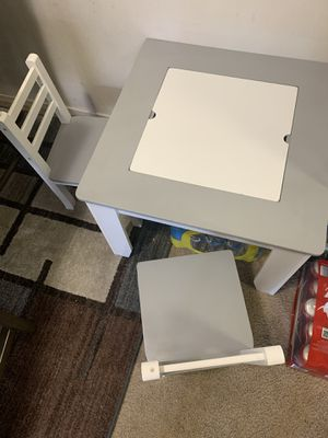 Kids Table and two Chair for Sale in San Leandro, CA