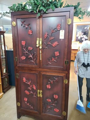 Cabinet Armoire Asian Influence 🦃 Another Time Around Furniture 2811 E. Bell Rd for Sale in Phoenix, AZ