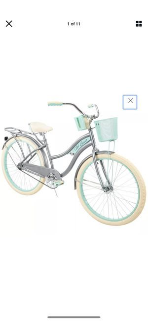 """Huffy Nel Lusso Classic Cruiser Bike with Perfect Fit Frame Women's Gray 26"""" BRAND NEW in BOX. Unopened. Factory Sealed. for Sale in Benicia, CA"""