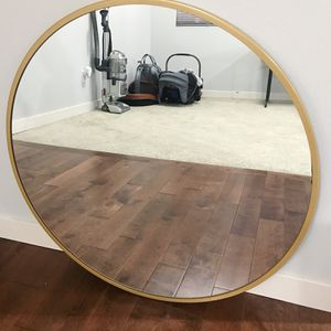Gold Colored Round Mirror for Sale in Puyallup, WA