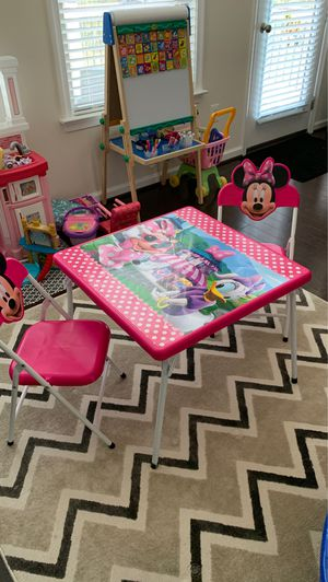Minnie Mouse table and chairs for Sale in Sterling, VA